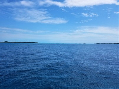 Approaching Compass Cay