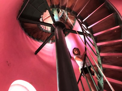 The climb up Hopetown Lighthouse