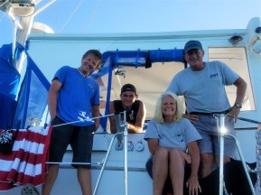 The crew of S/V Take me There