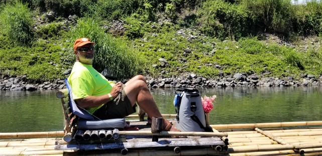 Capt Brian and his own raft