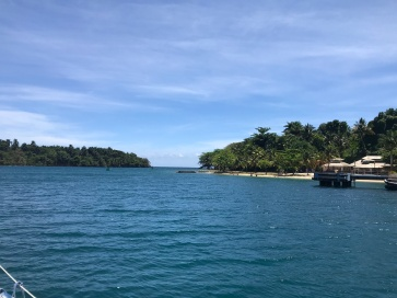 Departing Port Antonio Harbour