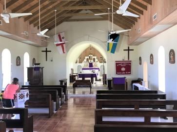 Inside St. Paul Anglican church