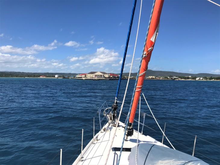 Coming into the Cruise ship Docks at Falmouth Bay