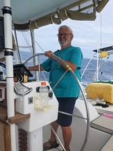 First Mate Joe keeping us on course