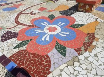 Mosaic on the boardwalk in Jacmel