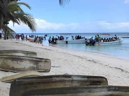 Shore landing Isla Saona