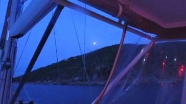 JN-26 Moon coming up over Trellis Bay - Beef Island