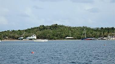 JN-27 storm damage- boats - Trellis Bay