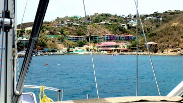 JN-29 View from our Mooring in Leverick Bay, Virgin Gorda