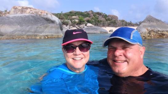JN-30 Joe and Cathy at the Baths - Virgin Gorda