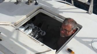JUL-1a Capt. Brian doing a little generator work
