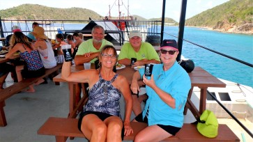 JUL-2b Willie Ts Cpt and crew enjoying Prejump lunch and Liquid Courage