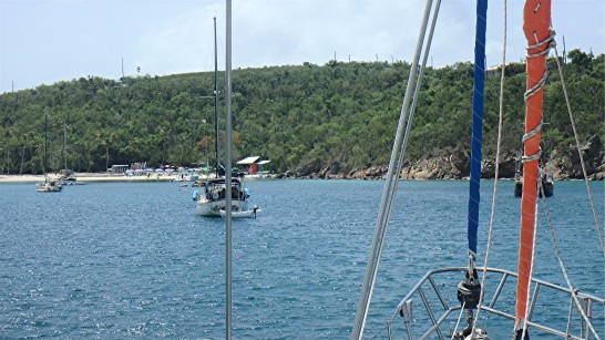 JUL-5z anchor off Water Is - Druif Bay